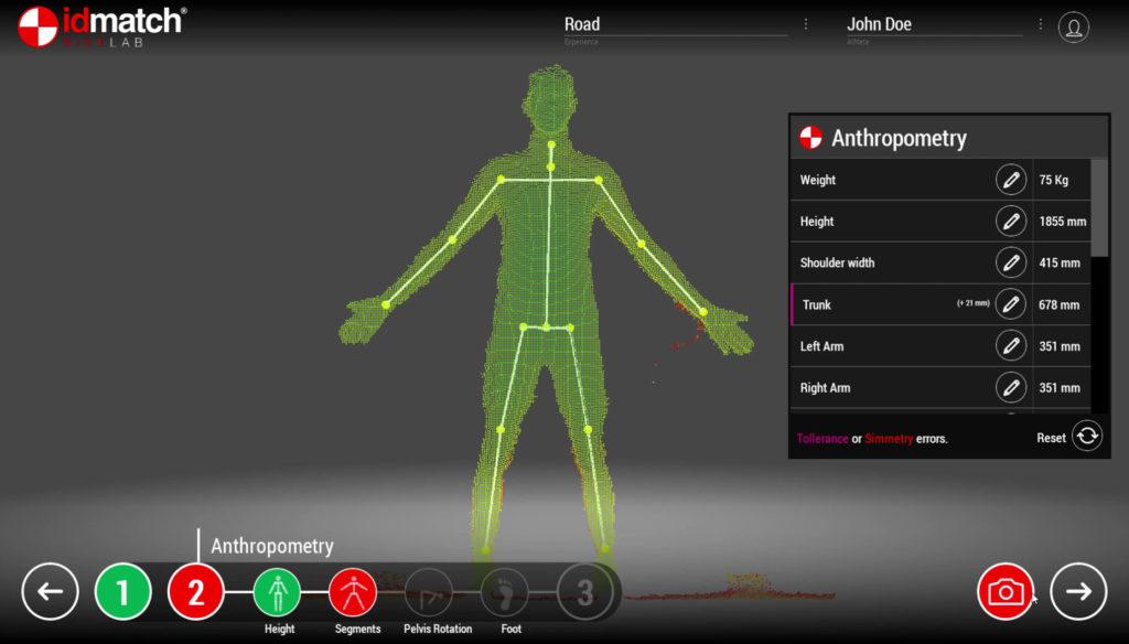 Bikefit 3D scanning
